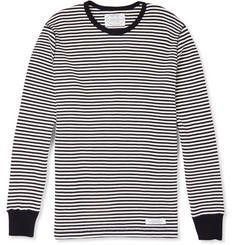 Neighborhood - Striped Waffle-Knit Cotton T-Shirt