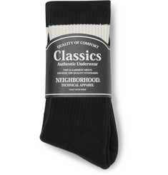 Neighborhood - Three-Pack Cotton-Blend Socks