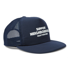 Neighborhood Printed Jersey and Mesh Trucker Cap