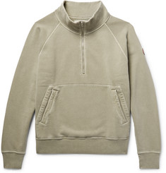 Cav Empt - Loopback Cotton-Jersey Half-Zip Sweatshirt