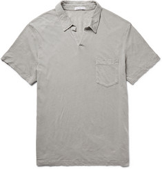 James Perse Slub Linen and Cotton-Blend Jersey Polo Shirt