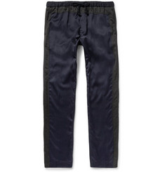 Dries Van Noten - Piers Slim-Fit Satin and Cotton-Canvas Trousers