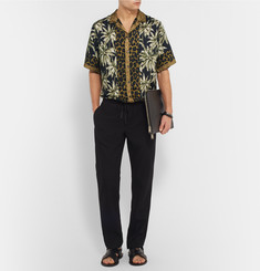 Dries Van Noten Carlton Camp-Collar Printed Voile Shirt