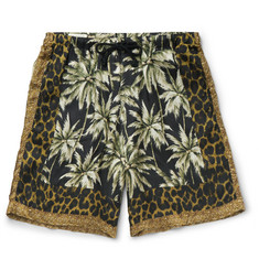 Dries Van Noten Piper Printed Voile Shorts
