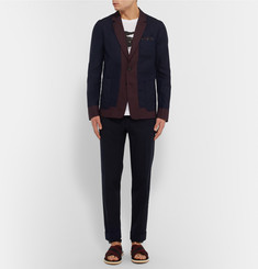 Dries Van Noten - Navy Linen and Cotton-Blend Blazer