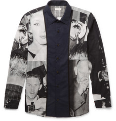 Dries Van Noten Creely Satin-Trimmed Printed Cotton-Voile Shirt
