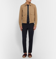Dries Van Noten Philip Slim-Fit Cotton-Piqué Trousers