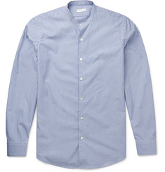 Dries Van Noten Claver Grandad-Collar Striped Cotton Shirt