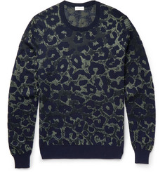 Dries Van Noten Leopard-Intarsia Cotton-Blend Sweater