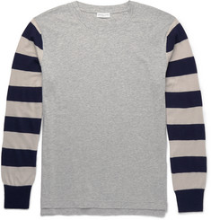 Dries Van Noten - Slim-Fit Striped Cotton-Jersey and Merino Wool T-Shirt