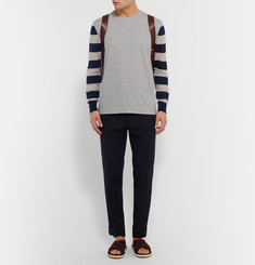 Dries Van Noten Slim-Fit Striped Cotton-Jersey and Merino Wool T-Shirt