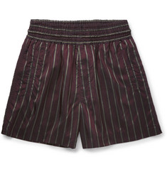 Dries Van Noten Palmor Striped Satin Shorts