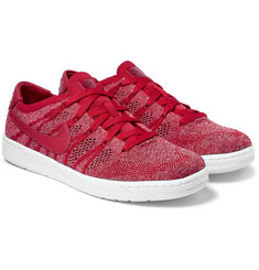 Nike - Tennis Classic Ultra Leather-Trimmed Flyknit Mesh Sneakers