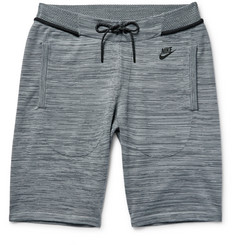 Nike Mélange Tech Knit Cotton-Blend Shorts
