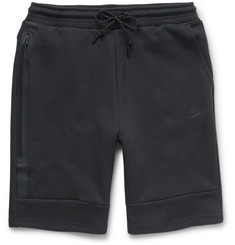 Nike - Mesh-Print Tech Fleece Shorts