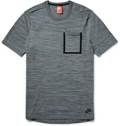 Nike Mélange Tech-Knit Cotton-Blend T-Shirt