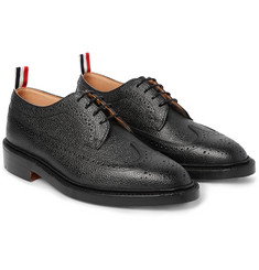 Thom Browne - Longwing Pebble-Grain Leather Wingtip Brogues