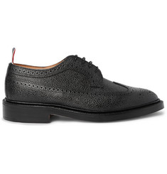 Thom Browne Longwing Pebble-Grain Leather Wingtip Brogues