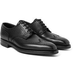 George Cleverley - Henry Pebble-Grain Leather Wingtip Brogues