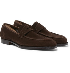 George Cleverley - Suede Penny Loafers