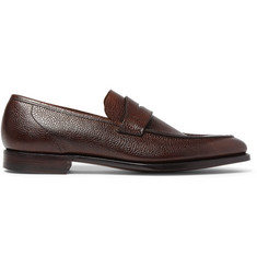 George Cleverley Pebble-Grain Leather Loafers