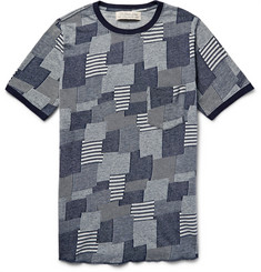 Remi Relief - Patchwork-Effect Knitted Cotton T-Shirt