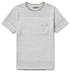 Remi Relief - Striped Knitted Cotton T-Shirt