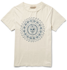 Remi Relief - Embroidered Cotton-Jersey T-Shirt