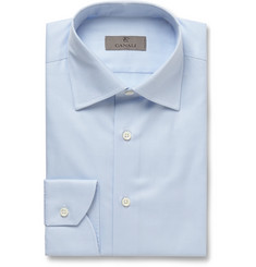 Canali - Blue Slim-Fit Cotton-Twill Shirt