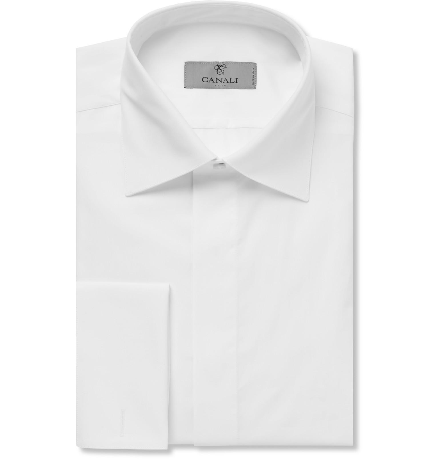 White cotton dress shirts.