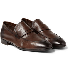 Berluti - Lorenzo Polished Full-Grain Leather Loafers