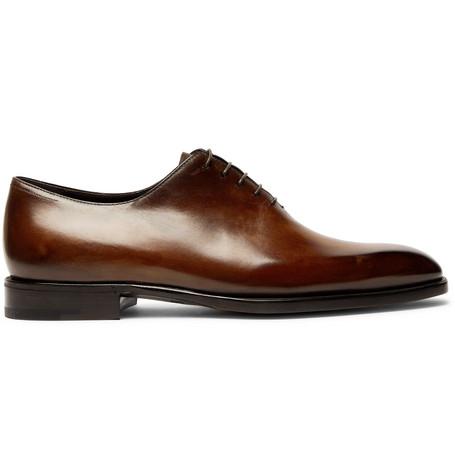 Alessandro Capri Leather Whole-cut Oxford Shoes Berluti Orange 100% Original Outlet Authentic Original For Sale Clearance Genuine Sale Limited Edition NDJbgel