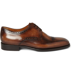 Berluti Polished-Leather Derby Shoes