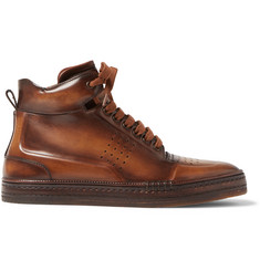 Berluti Playtime Polished-Leather High-Top Sneakers