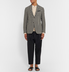 Massimo Alba - Slim-Fit Gingham Linen Blazer