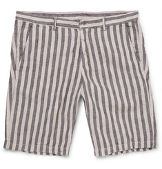 Massimo Alba Vela Striped Linen Shorts