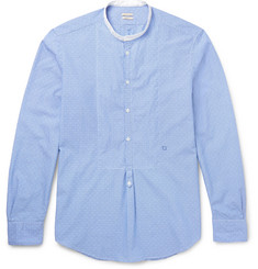 Massimo Alba - Grandad-Collar Striped Cotton Shirt
