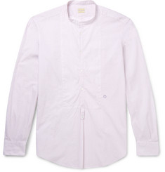 Massimo Alba Grandad-Collar Printed Cotton Shirt