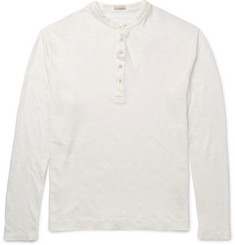 Massimo Alba - Slim-Fit Linen Henley T-Shirt