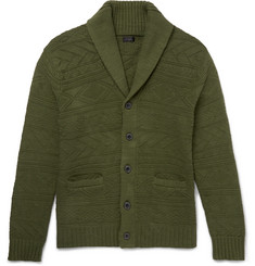 J.Crew Shawl-Collar Knitted Cotton Cardigan