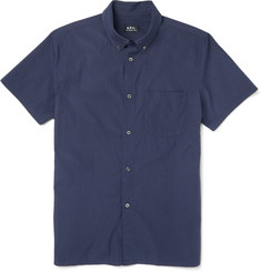 A.P.C. Slim-Fit Button-Down Collar Cotton-Poplin Shirt