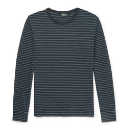 A.P.C. - Slim-Fit Striped Cotton T-Shirt