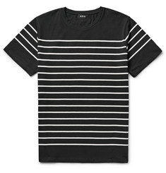 A.P.C. Calanque Breton-Striped Cotton-Jersey T-Shirt