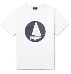 A.P.C. - Sailboat-Printed Cotton-Jersey T-Shirt
