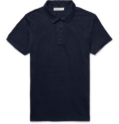 Sandro Slim-Fit Slub Linen Polo Shirt