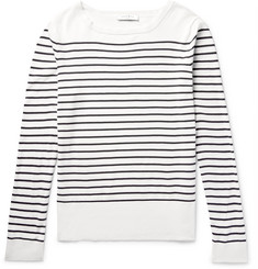 Sandro Striped Cotton Sweater
