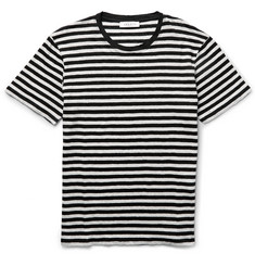 Sandro Slim-Fit Striped Linen T-Shirt