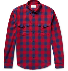 Sandro Slim-Fit Checked Cotton Shirt