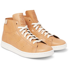 adidas Originals - Stan Smith Leather High-Top Sneakers