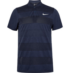 Nike Golf MM Fly Blade Striped Dri-FIT Jacquard-Knit Polo Shirt